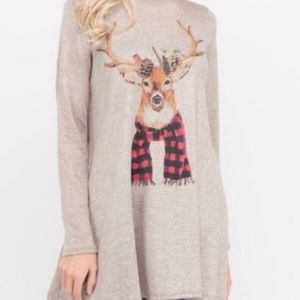 Tops - 🔴 REINDEER Tunic Top 🔴 3 LEFT!!!!
